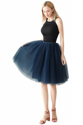White Short Puffy Petticoat with Layers_20