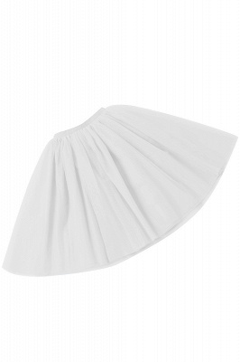 White Short Puffy Petticoat with Layers_9