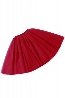 White Short Puffy Petticoat with Layers_50