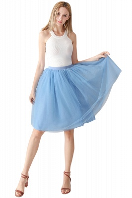 White Short Puffy Petticoat with Layers_45