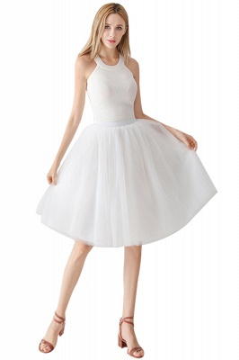 White Short Puffy Petticoat with Layers_7