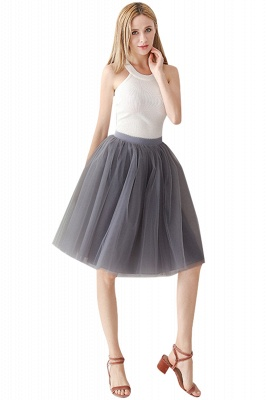 White Short Puffy Petticoat with Layers_71
