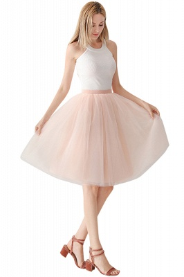 White Short Puffy Petticoat with Layers_67