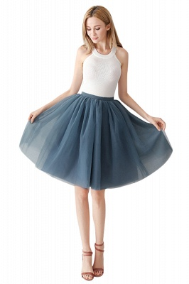 White Short Puffy Petticoat with Layers_56