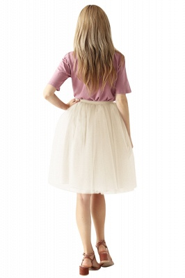 White Short Puffy Petticoat with Layers_68