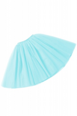 White Short Puffy Petticoat with Layers_18