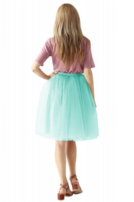 White Short Puffy Petticoat with Layers_6