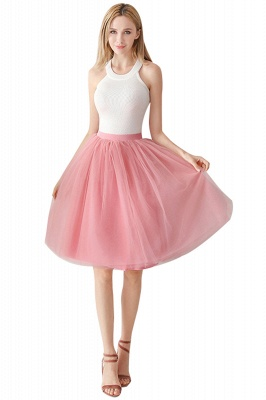 White Short Puffy Petticoat with Layers_11