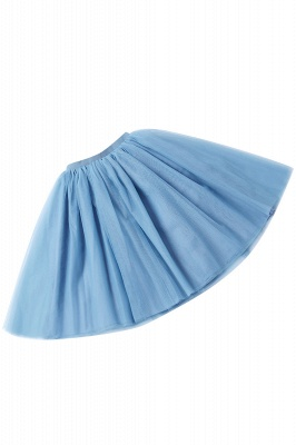 White Short Puffy Petticoat with Layers_46