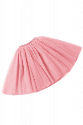 White Short Puffy Petticoat with Layers_24