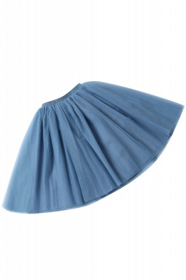 White Short Puffy Petticoat with Layers_54
