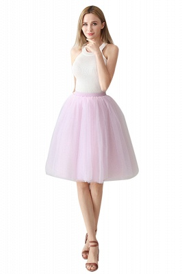 White Short Puffy Petticoat with Layers_29