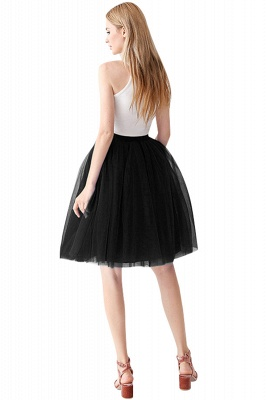 White Short Puffy Petticoat with Layers_36