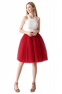 White Short Puffy Petticoat with Layers_49