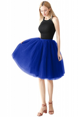 White Short Puffy Petticoat with Layers_3