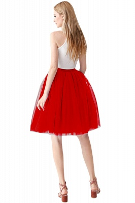 White Short Puffy Petticoat with Layers_41