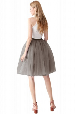 White Short Puffy Petticoat with Layers_63