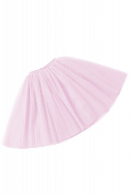 White Short Puffy Petticoat with Layers_35