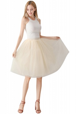 White Short Puffy Petticoat with Layers_75