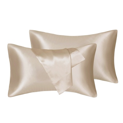 Fatapaese Satin Pillowcase Set of 2, Standard Size Silky Pillow Cases for Hair and Skin No Zipper_5