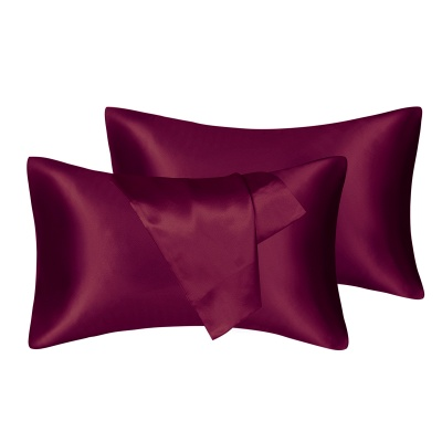 Fatapaese Satin Pillowcase Set of 2, Standard Size Silky Pillow Cases for Hair and Skin No Zipper_4