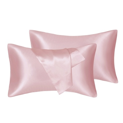 Fatapaese Satin Pillowcase Set of 2, Standard Size Silky Pillow Cases for Hair and Skin No Zipper_3