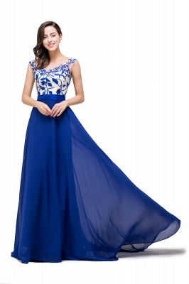 EMILIE | A-Line Floor-Length Sleeveless Chiffon Prom Dresses with Lace-Appliques_1