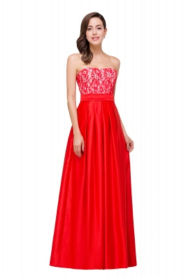 EVERLY   A-line Sleeveless Sweetheart Floor-Length Red Chiffon Prom Dresses_6