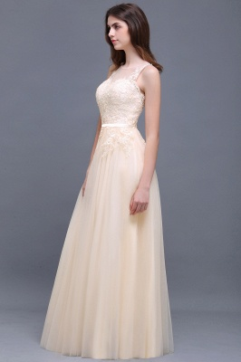 ATHENA   A-line Floor-Length Tulle Prom Dress With Lace_8
