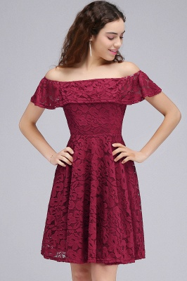 BRIAR | A-Line Off-the-shoulder Lace Burgundy Homecoming Dresses_7