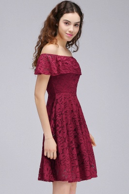 BRIAR | A-Line Off-the-shoulder Lace Burgundy Homecoming Dresses_4