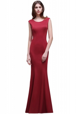 Sheath Scoop Floor-Length Elegant Evening Dresses