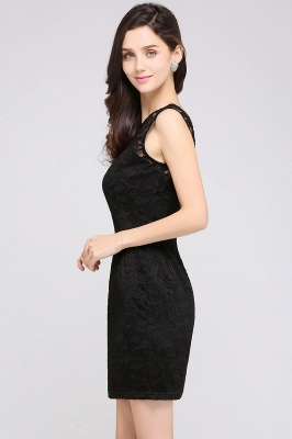 ARYA | Sheath Scoop Black Lace Homecoming Dresses_11