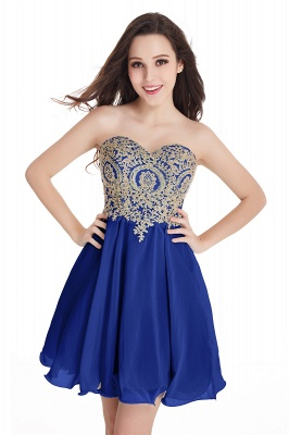 CYNTHIA | A-Line Strapless Short Chiffon Prom Dresses with Beadings_5