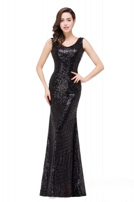 EVERLEIGH | Mermaid V-neck Sleeveless Floor-Length Sequins Prom Dresses_4