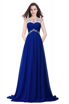 AINSLEY | A-line Sweetheart Chiffon Evening Dress With  Crystal_3