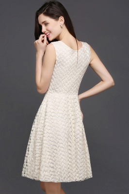 Princess Scoop neck Knee-length Lace Sexy Prom Dress_7
