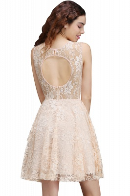 A-line Short Lace Homecoming Dress_3