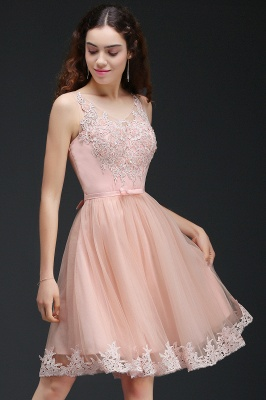 ANIYAH | A-line Short Cute Homecoming Dress With Lace_6