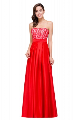 EVERLY   A-line Sleeveless Sweetheart Floor-Length Red Chiffon Prom Dresses_8