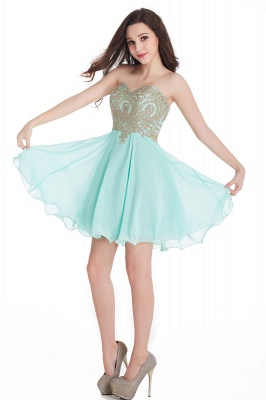 CYNTHIA | A-Line Strapless Short Chiffon Prom Dresses with Beadings_12