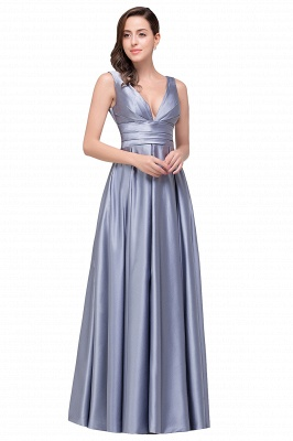 Sexy Evening Gowns Deep V Neck Beaded Pageant Dresses_1