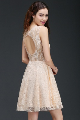 A-line Short Lace Homecoming Dress_7