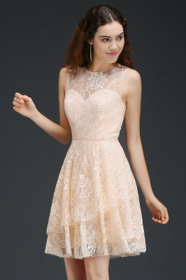 A-line Short Lace Homecoming Dress_5