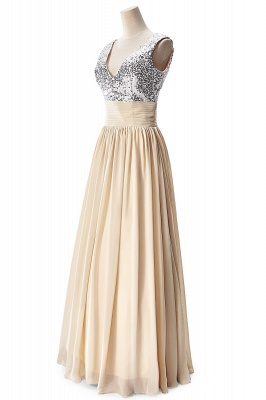 AISLINN | A-line V-neck Chiffon Party Dress With  Sequined_12