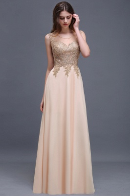 ALAYNA | Sheath Jewel Long Chiffon Evening Dresses With Applique_7