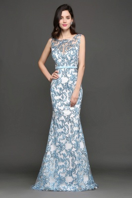 Mermaid Sweep Train Lace Evening Dresses_5