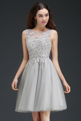 ANNA | A-line Short Modern Homecoming Dress With Lace Appliques_7