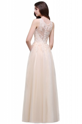 ATHENA   A-line Floor-Length Tulle Prom Dress With Lace_7