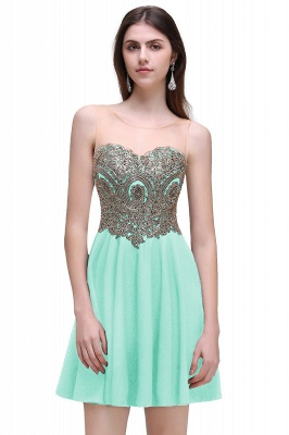 CAITLIN   A-line Short Chiffon Black Homecoming Dresses with Appliques_2